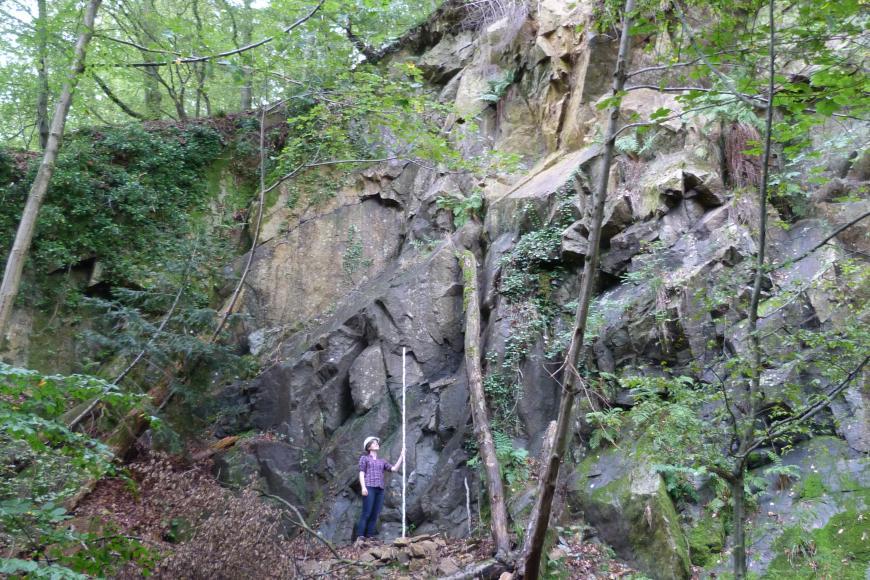 Granitporphyr im aufgelassenen Steinbruch bei Kropbach