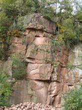 Sandsteine der Miltenberg-Formation des Unteren Buntsandsteins