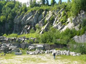 Bühlertal-Granit aus dem Steinbruch Rotenberg