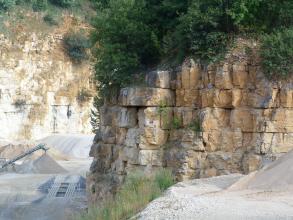 Kalksteine der Untere-Felsenkalke-Formation.