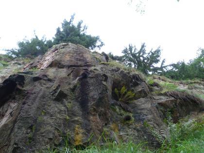Die Granitporphyre durchschlagen als Gänge das metamorphe Grundgebirge.