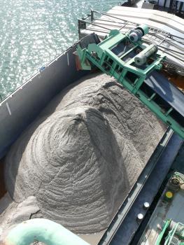 Gewaschener Sand.