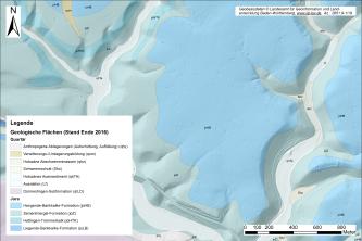 Digitales Geländemodell mit unterschiedlichen Landschaftsformen.