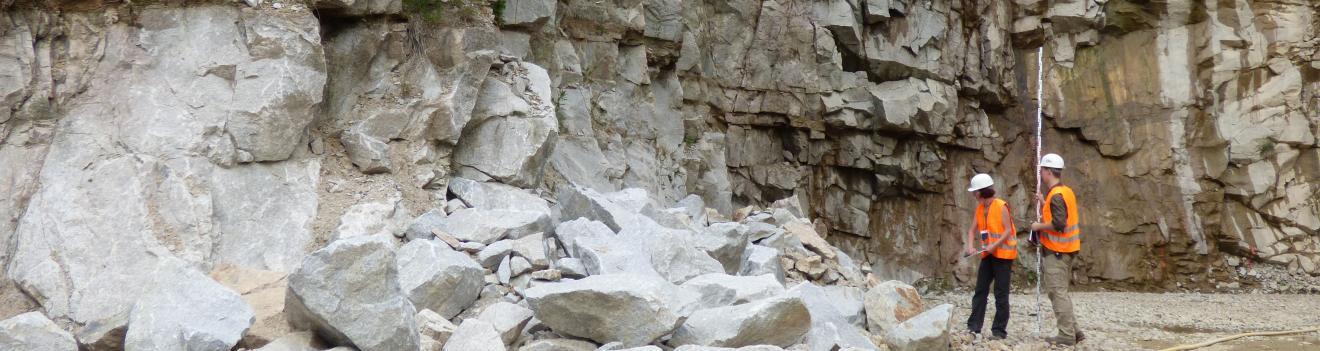 Im Steinbruch Malsburg-Marzell stehen die plutonischen Gesteine in einer aufgeschlossenen Mächtigkeit von 90 bis 100 m an.